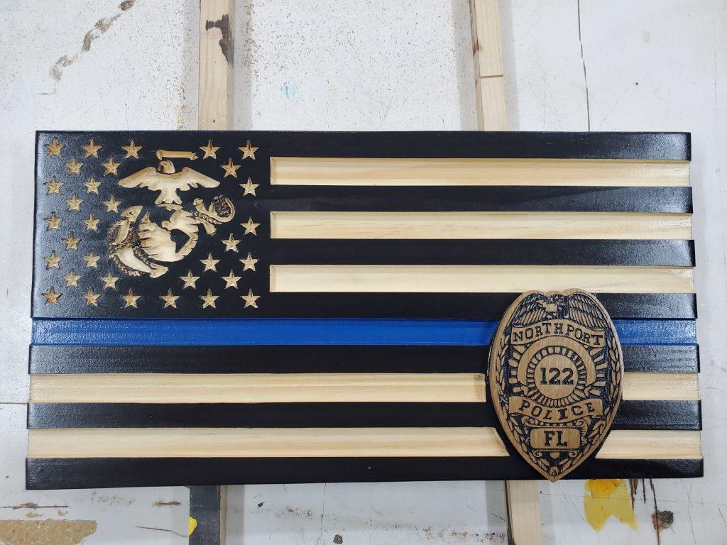Marines/Blue Line Flagac